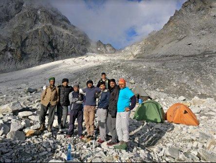 Team at Upper Lamjunga Campsite