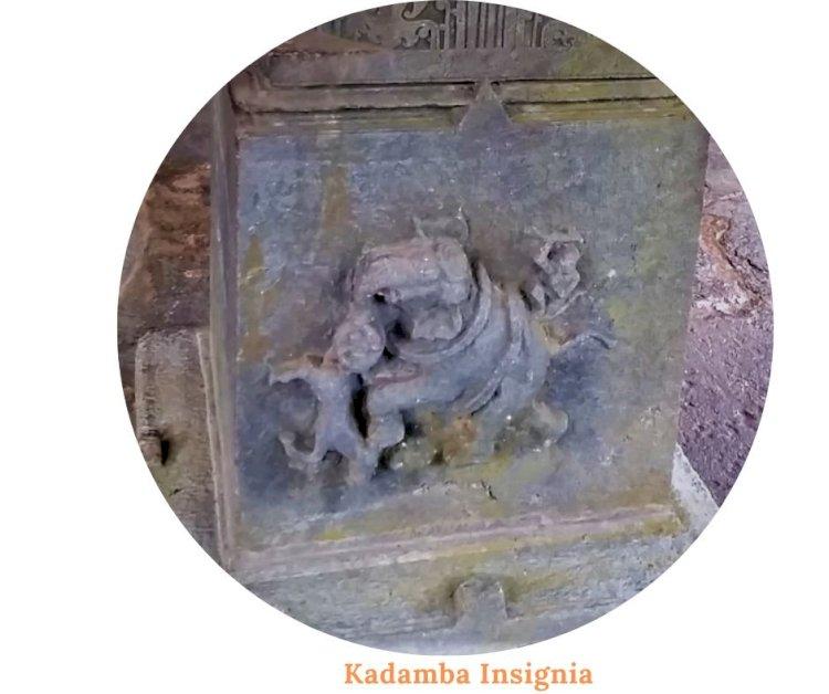 Insignia of Kadambas - Elephant trampling a horse