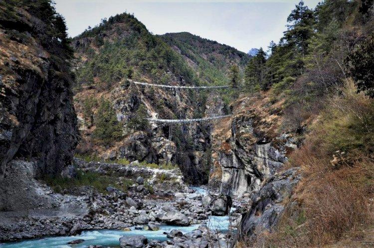 Double Decker Hanging Bridge Everest base Camp trek