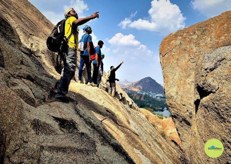 Negotialting Rock face Davalappana Gudda